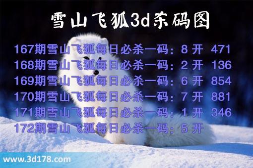 专家雪山飞狐杀码图3d第17172期推荐:杀5