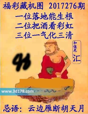 3d第2017276期正版藏机图和尾:汇