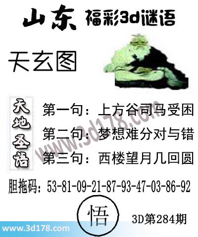 3d第2017284期丹东天玄第一句:上方谷司马受困