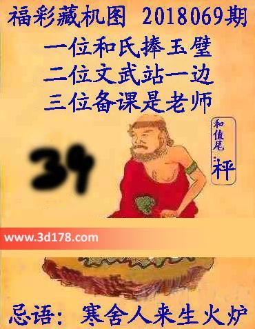 第2018069期3d正版藏机图忌语:寒舍人来生火炉