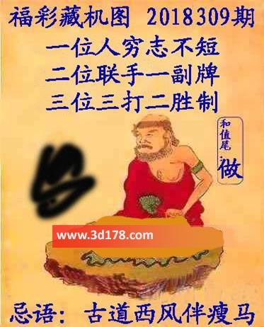 3d第2018309期正版藏机图推荐忌语:古道西风伴瘦马