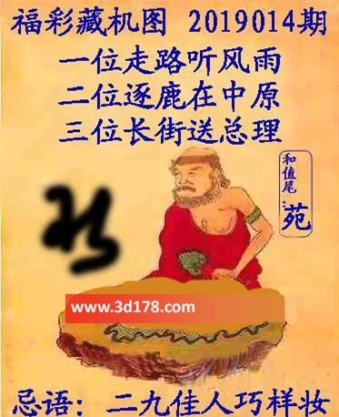 第2019014期3d正版藏机图忌语:二九佳人巧样妆