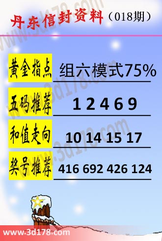 丹东信封资料图3d第2019018期黄金指点:组六模式75%