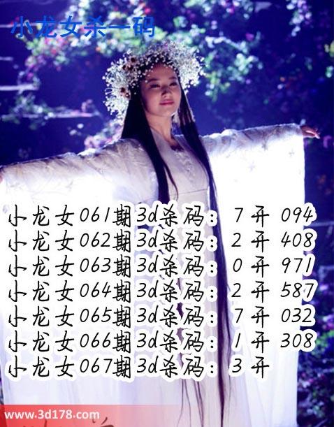 小龙女3d第2019067期杀码图推荐:杀一码3