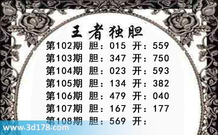 第2019108期3d王者三胆本期推荐:关注569