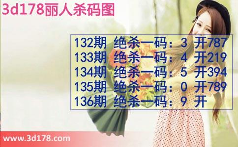 3d第2019136期丽人杀码图:绝杀一码9