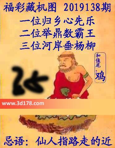 正版藏机图3d第2019138期一位:归乡心先乐