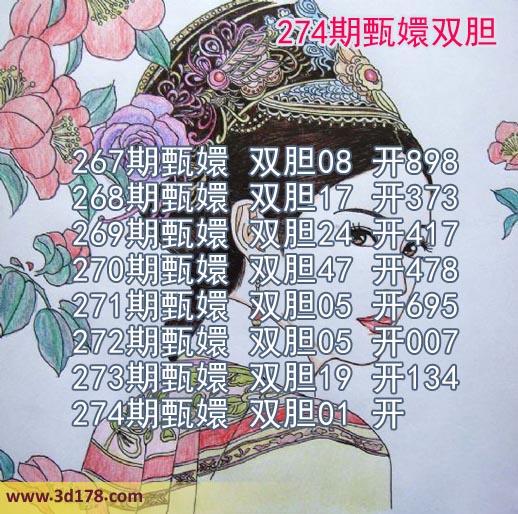甄嬛双胆图3d第2019274期推荐双胆:01