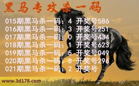 3d第2020021期黑马专攻一码杀码图:杀一码2