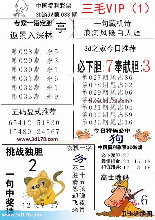 三毛图库3d第2020033期推荐玄机一字:务
