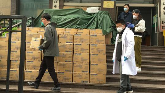 捐赠物资抵达武汉