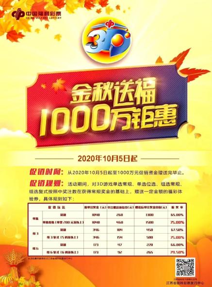 江西福彩金秋送福,1000万大派奖活动
